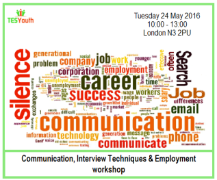 Communication, Interview Techniques & Employment workshop in Barnet