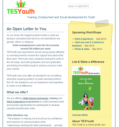 TESYouth Newsletter, April 2014