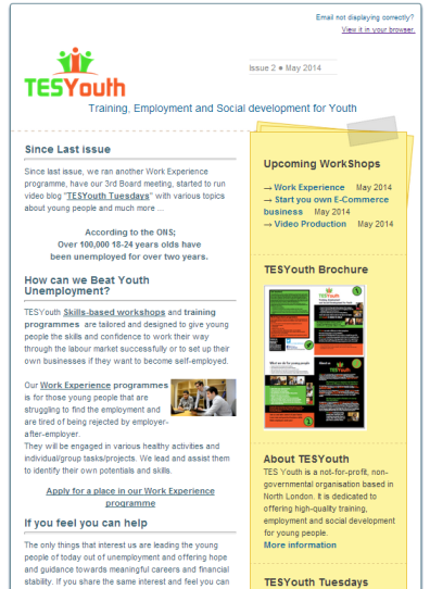 TESYouth Newsletter - May 2014
