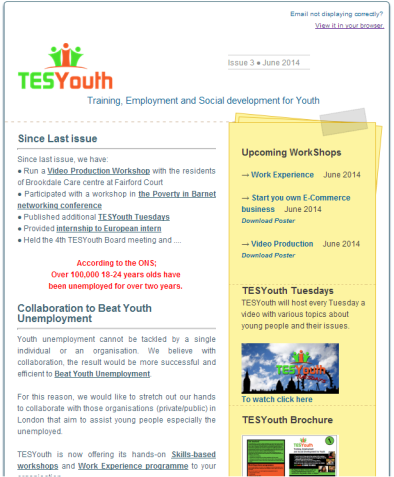 TESYouth Newsletter - June 2014