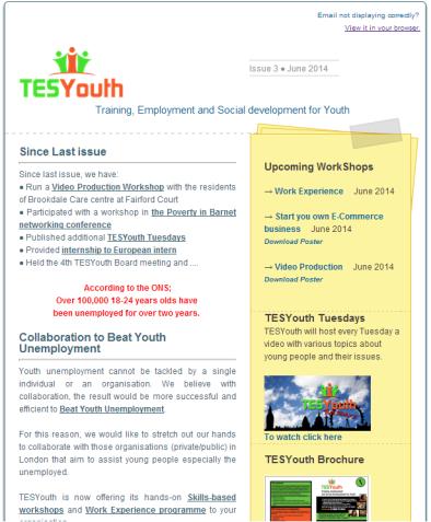 TESYouth Newsletter - June 2014