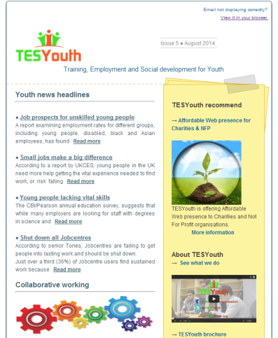 TESYouth Newsletter August 2014