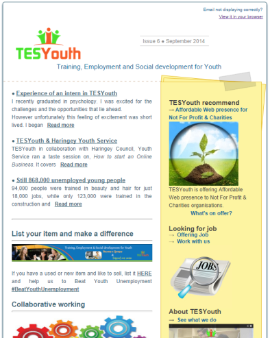 TESYouth Newsletter September 2014