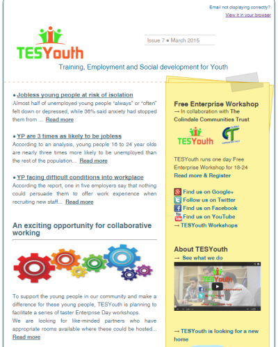 TESYouth Newsletter - March 2015