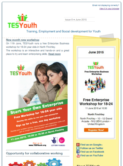 TESYouth Newsletter June 2015