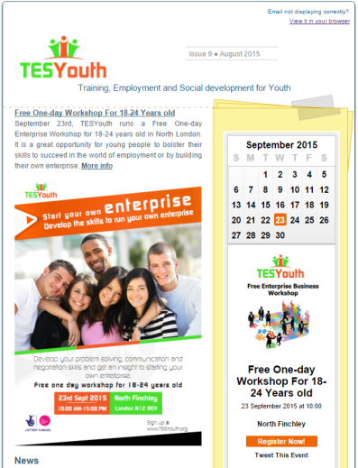 TESYouth Newsletter – August 2015