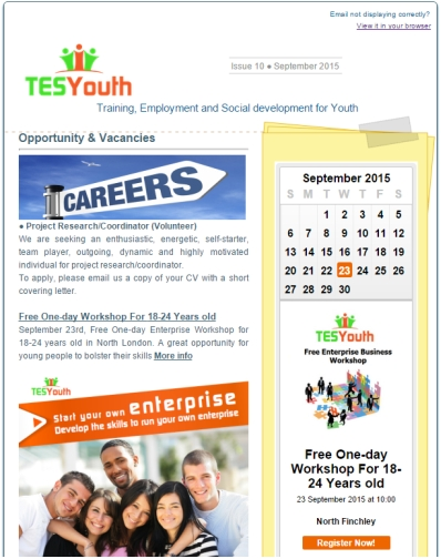 TESYouth Newsletter, September 2015