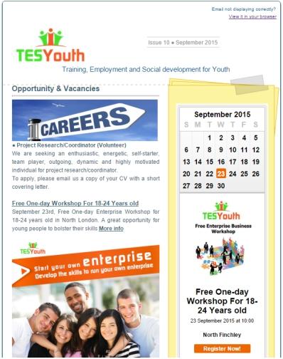 TESYouth Newsletter, September 2015