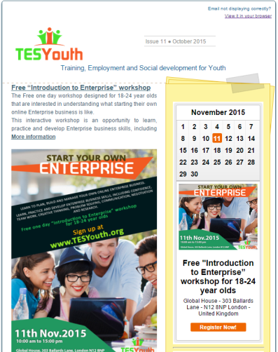 TESYouth October 2015 Newsletter