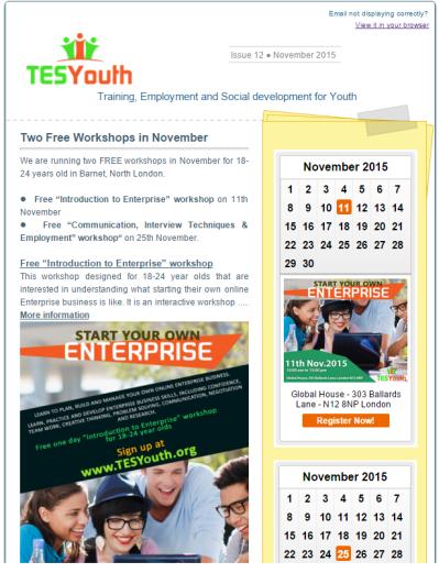 TESYouth November 2015 Newsletter