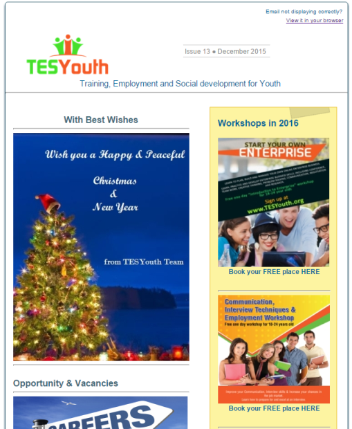 TESYouth Newsletter December 2015