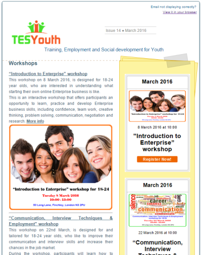 TESYouth Newsletter March 2016
