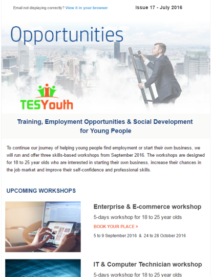 TESYouth Newsletter July 2016