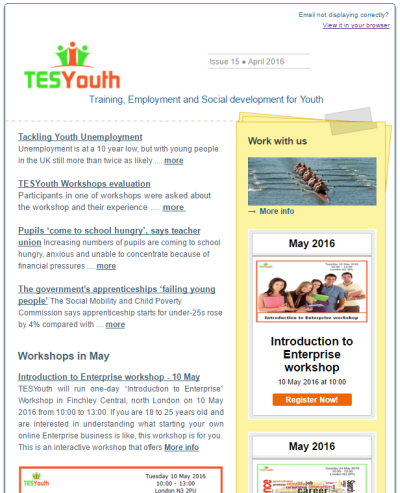 TESYouth Newsletter April 2016