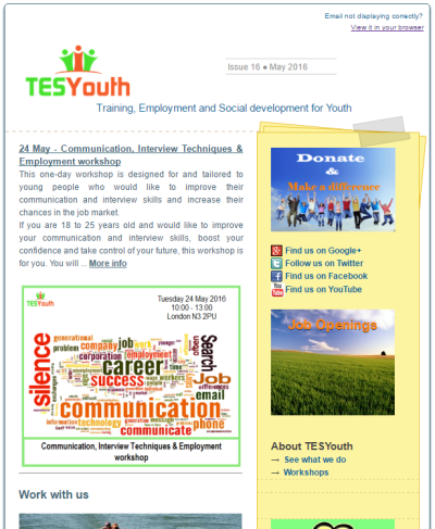TESYouth Newsletter May 2016