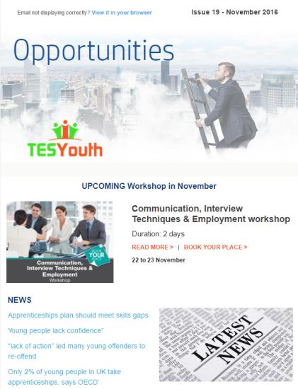 TESYouth Newsletter November 2016