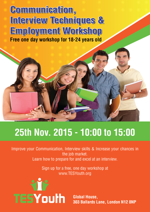 Free Communication Interview Techniques Employment Workshop For 18 24 Year Olds Tesyouth